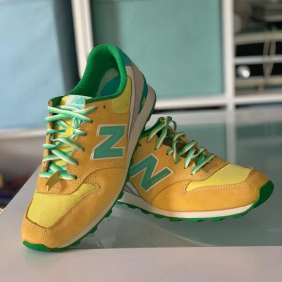 new balance 996 yellow green